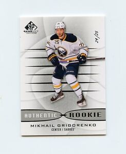 13-14-SP-GAME-USED-SPGU-ROOKIE-RC-184-MIKHAIL-GRIGORENKO-24-25-SABRES