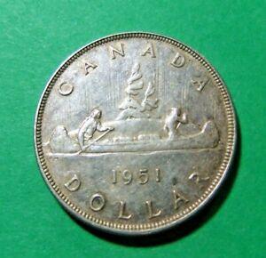 1951 Canada Silver Dollar - Circulated