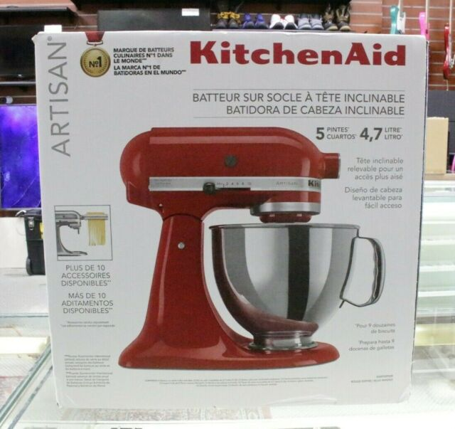 KitchenAid Artisan Series 5 Quart Tilt-Head Stand Mixer Empire Red New In Box