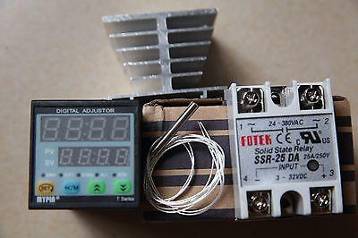 F//C Manual// Auto-tuning PID Temperature Controller TD4-SNR K Sensor+25A DA SSR