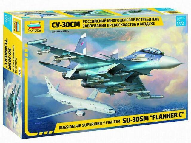 Russian Air Superiority Fighter SU-30 SM 7314 Zvezda 1:72 New!