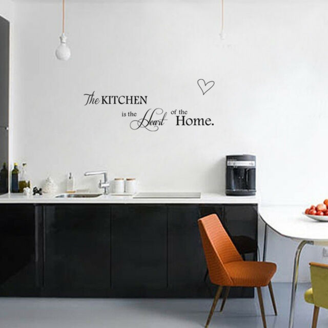 Creative Kitchen is Heart of the Home Letter Removable Wall Stickers\