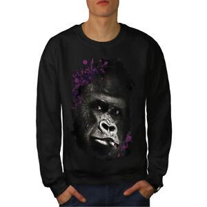 nera Face Felpa da Gorilla uomo Smoking wpZwtqxX8
