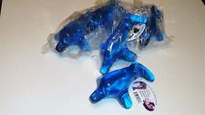 Hand Dolphin Body Massager Manual Tool Stress Relief Reflexology Blue Lot of 10