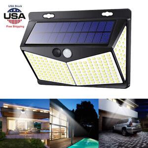 208-LED-Lampada-Energia-Solare-da-Giardino-Esterno-Cortile-Sensore-PIR-MURO-LUCE-BRILLANTE