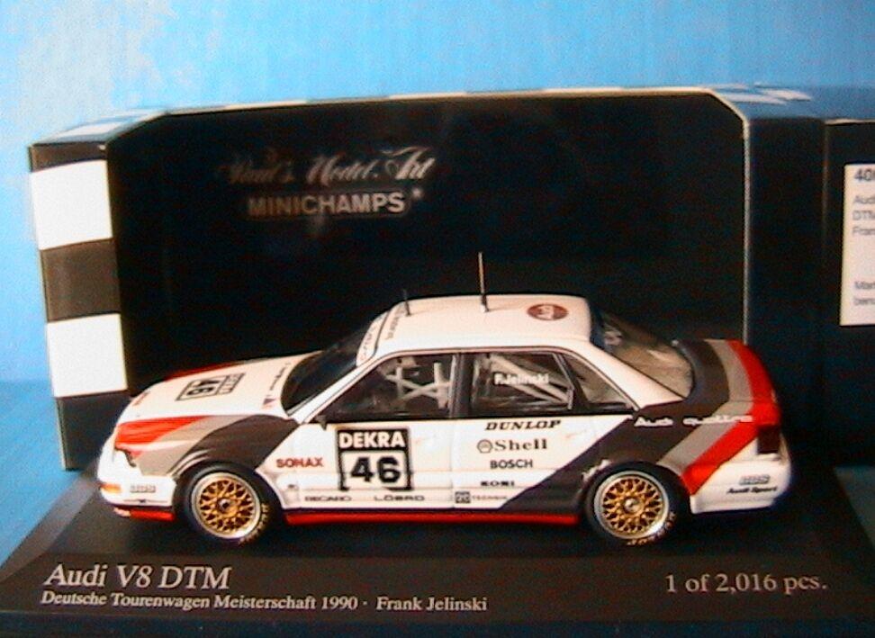 Audi v8 dtm 1990 frank jelinski minichamps 400901046 Deutsche tourenwagen