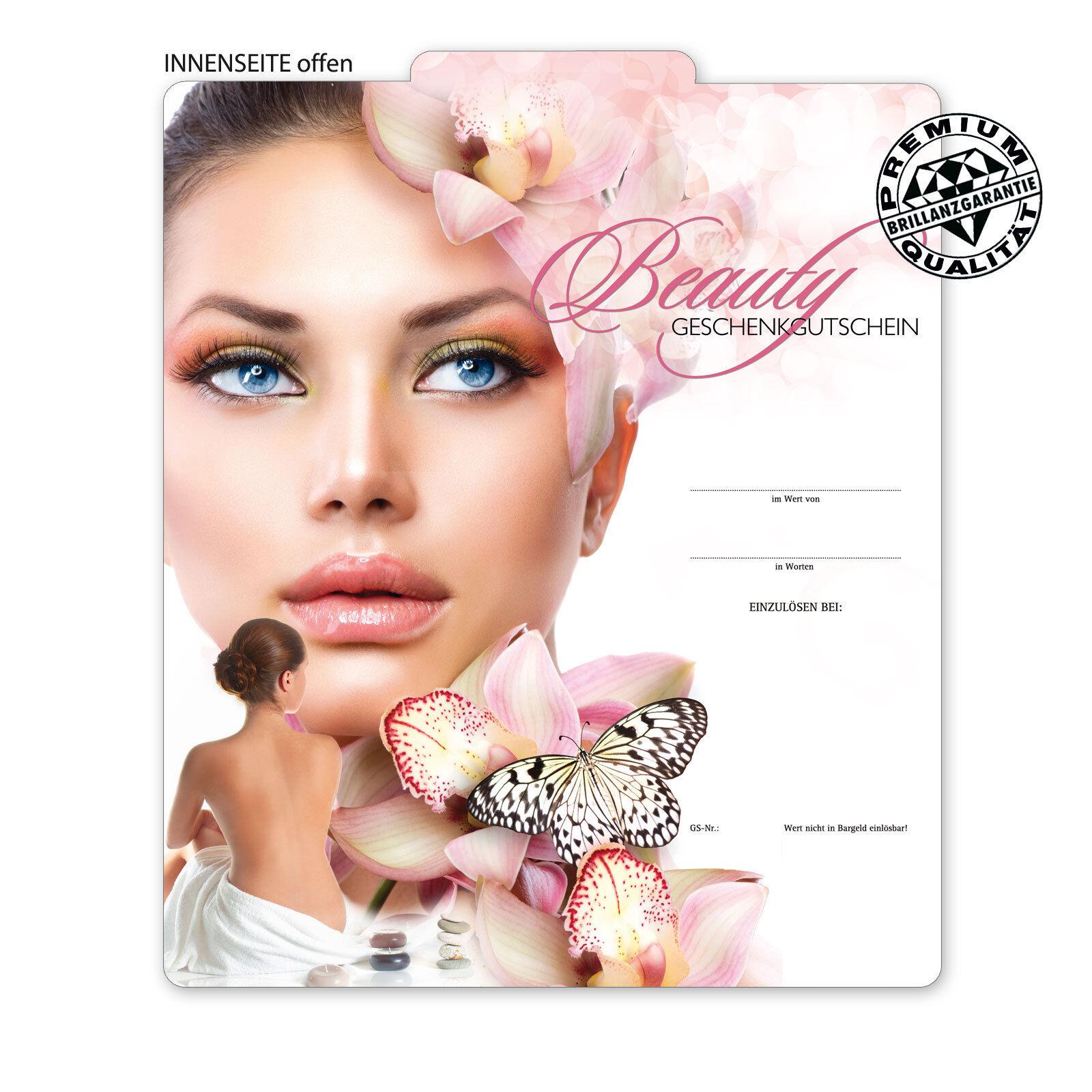 Premium Faltgutscheine  MultiFarbe  für Kosmetikinstitute Beautysalons KS266  | Öffnen Sie das Interesse und die Innovation Ihres Kindes, aber auch die Unschuld von Kindern, kindlich, glücklich  | Kunde zuerst