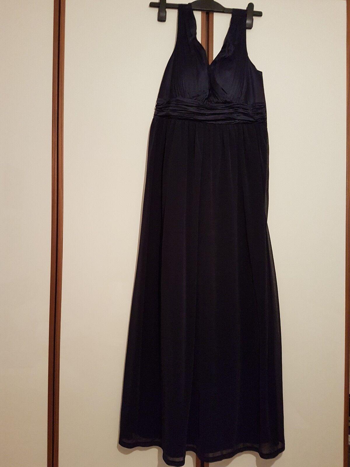 NEU dunkelblau Esprit Lang Abendkleid und M Gr. NP