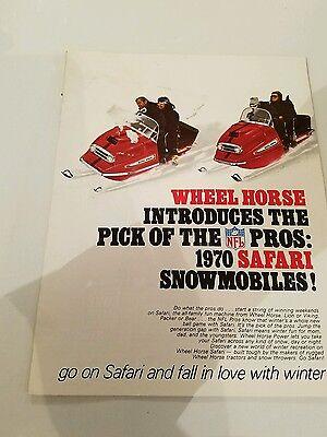 Vintage Safari Wheel Horse Large Snowmobile Brochure