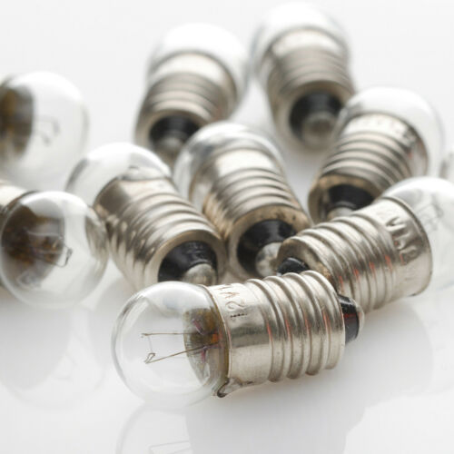 Birne Lampe 10 x 3,8V 1,14W 300mA 0,3A E10 Kugel 11x24 Lamp Skalenlampen