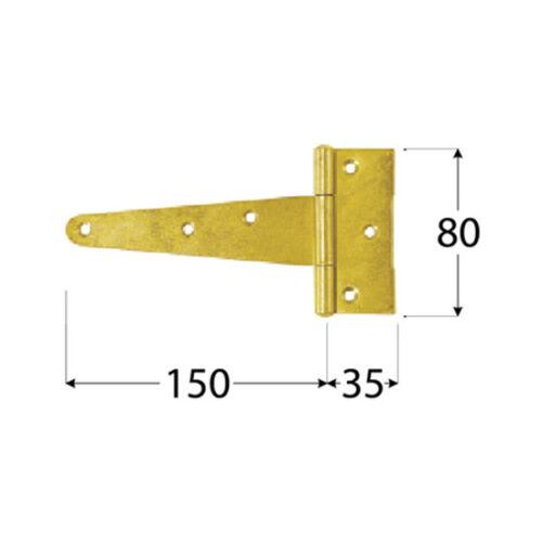 Kreuzgehänge Torband T-Scharniere ZT Ladenband Türbänder Bänder Scharnier