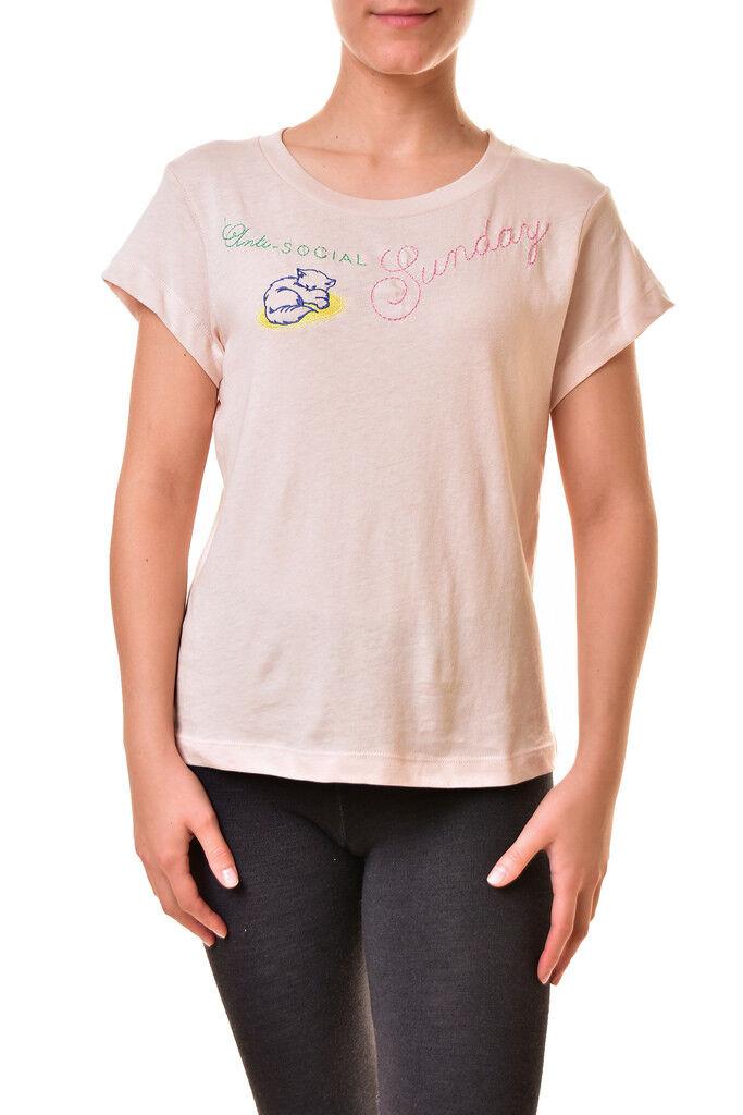 Wildfox Damen No9 Sonntag WRT179 77U T-Shirt Eis Lavendel M UVP  BCF810