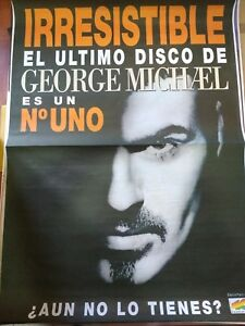 GEORGE-MICHAEL-IRRESISTIBLE-SPANISH-BIG-PROMO-POSTER-100cm-X-140cm-RARO