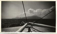 ISOLA DI CAPRAIA (LIVORNO), FOTO 1951, VEDUTA DAL BORDO DI NAVE PIROSCAFO    m