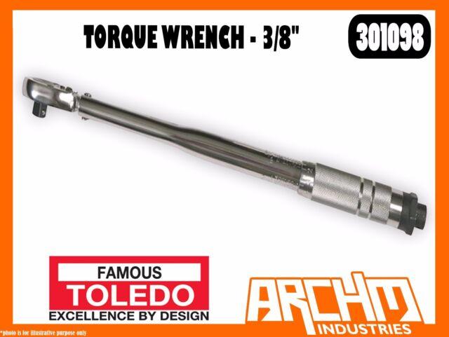 "TOLEDO 301098 - TORQUE WRENCH - 3/8"" - HEAVY DUTY CLICK STOP ROBUST SLIM STYLE"