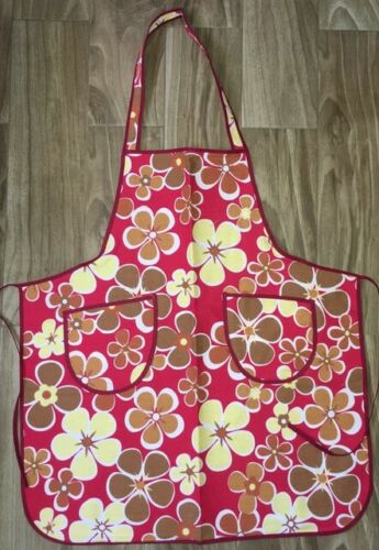 Fashion Women Floral Kitchen Bib Aprons Chef Cooking Baking Restaurant Apron