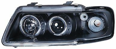 black halo angel eye halo projecteur avant phares feux 1995-2000 Audi A3