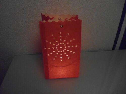 hellrot *NEU* Farbe Luminaria Lichttüten,Lampion-Set Sonne 12 Laternen