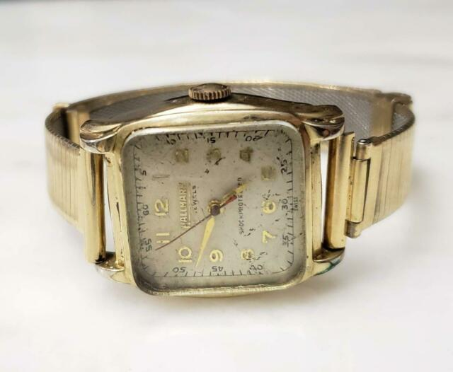 Vintage Hallmark Wristwatch With Gold Filled Band ~ 17 Jewels ~ 11-I533