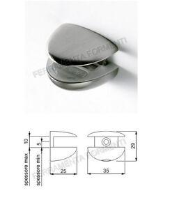 Reggimensola Per Vetro.Dettagli Su Reggimensola Per Vetro Cristallo Mm 5 10 Colore Alluminio Art Csp 3309bal