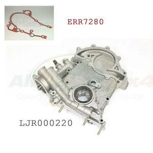 LAND ROVER DISCOVERY 2 4.6L OIL PUMP ENGINE FRONT COVER /& GASKET LJR000220 NEW