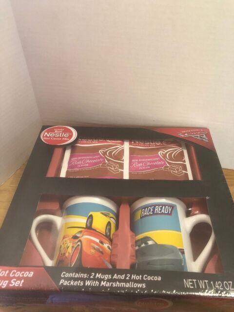 ~ Gift 2 Mugs Cars Hot Nestle Decorative Mug Set Pixar Cocoa Disney ulTc35F1JK