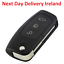 Uncut-Replacement-Blank-Car-Shell-Key-Fob-3Button-for-Ford-Focus-Fiesta-C-Max-Ka thumbnail 1