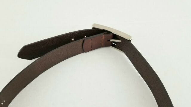 Eagles Wings Georgia Brandish Brown Leather Belt