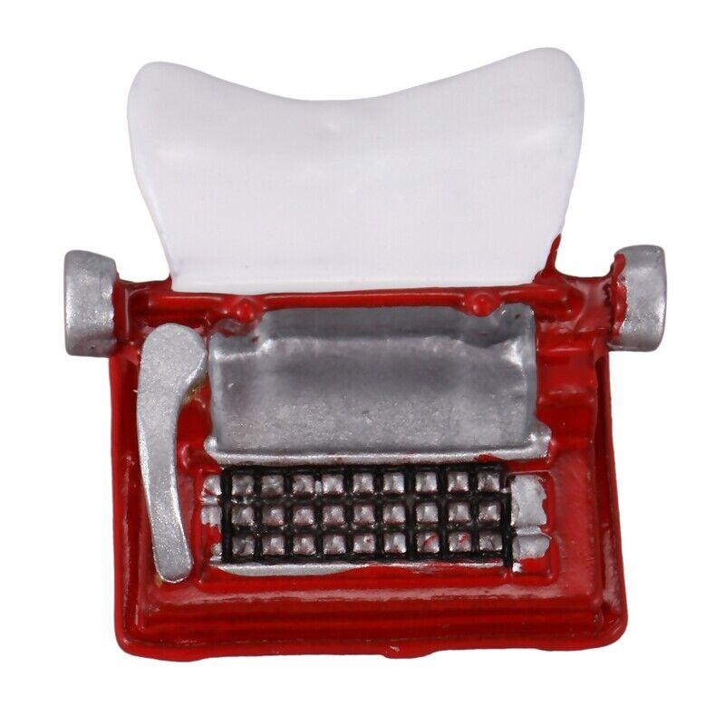 Vintage Typewriter Dollhouse Miniature 1:12 Scale Fairy Doll Life Scene V5Q7