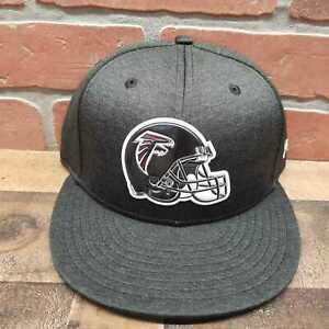 Men-039-s-New-Era-9Fifty-Atlanta-Falcons-NFL-Black-Snapback-Cap-Sz-M-L