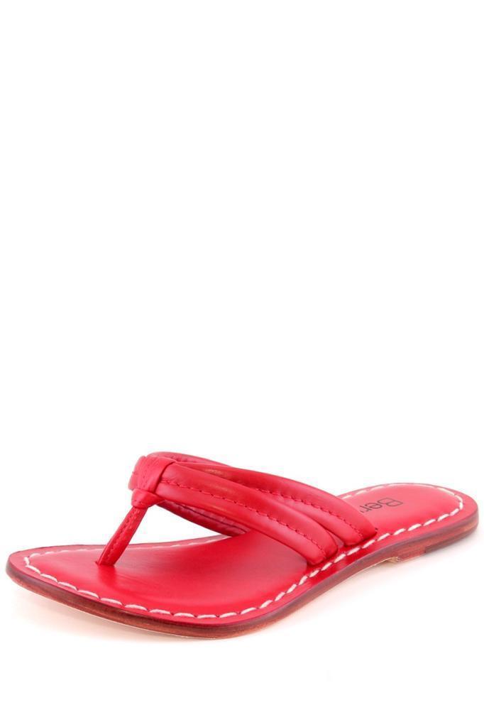 Donna Bernardo Miami Sandal in RED Strappy Flip Flops Sandals NEW Strappy RED Pelle FLAT 1411e7