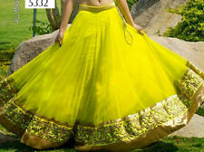 Two Layer Skirt Belly Dance Tribal Bollywood Dancing Traditional Indian lengha