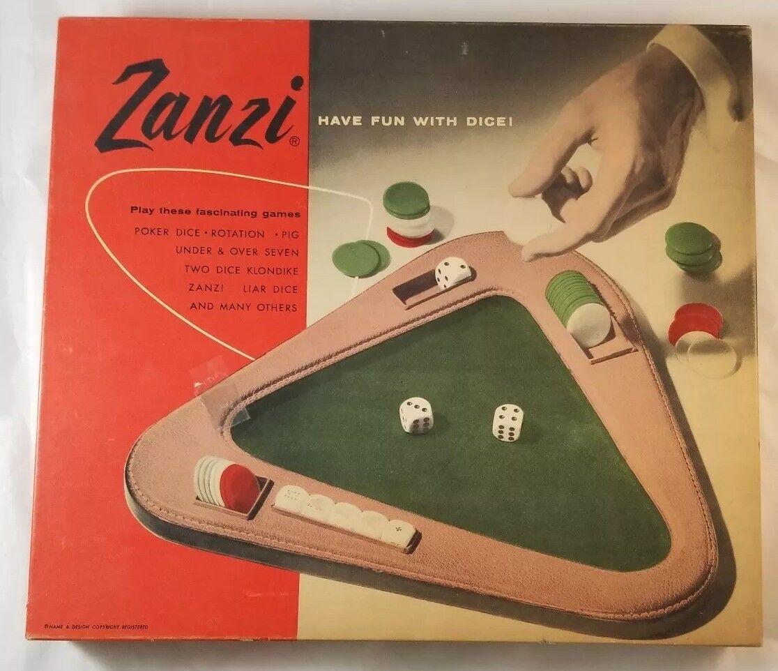 Zanzi Vintage Dice Game Have Fun w/ Dice RARE