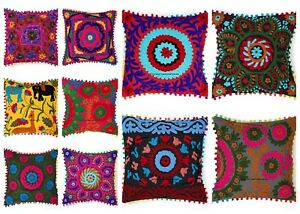 Indian-Embroidered-Pillow-Cases-Suzani-Cushion-Square-16-034-Pillow-Cushion-Cover