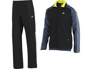 Woven volledig 34 trainingspak Adidas gevoerd zwart grijs Maat Small 36 Mesh 365 ZgIwOq