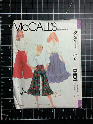 Shorts /& Culottes ... McCalls Ladies Easy Sewing Pattern 7475 Flared Skirts