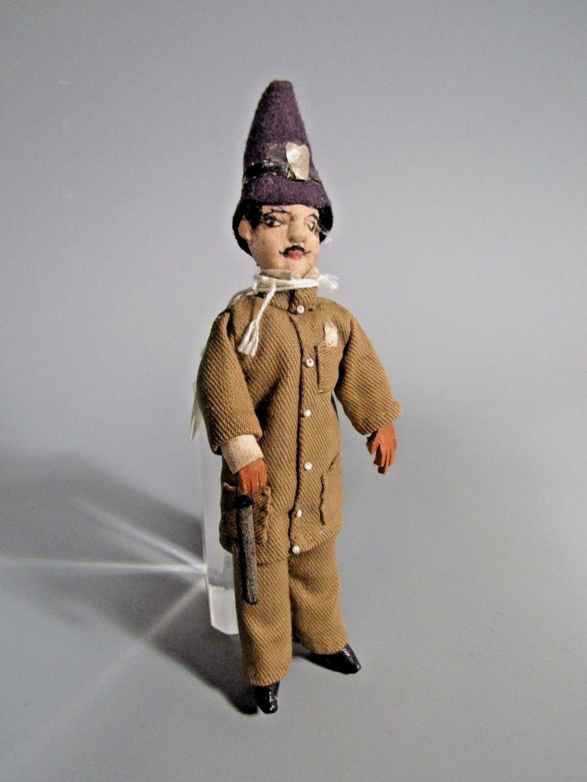 South American Venezuela Cloth Doll of a Policeman Officer Soldier ca. 19-20th c