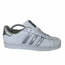 Golpeteo radical Ya que  ADIDAS SUPERSTAR SNEAKERS WHITE SILVER AQ3091 for sale online | eBay