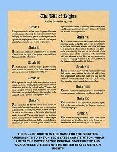 bill of rights first 10 amendments