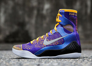 lowest price 6d588 f00e3 ... italy image is loading nike kobe 9 ix elite showtime 034 lakers 54d09  77769