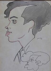 Alejandro PARDIÑAS CABRÉ(1890-1969)Portrait de profil,dessin à l'encre Cuba . - France - Alejandro PARDIAS CABRÉ (1890-1969)Dessin l'aquarelle sur papier, signé et daté 35 représentant un jeune homme de profil Alejandro Pardinas Cabre a vécu Cuba. Il est connu pour la figure, le genre et la peinture de paysage. Dimensions (uvre) - France