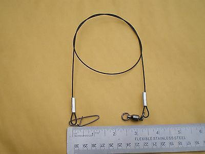 """TEST W//BALL BEARING SWIVEL 15 STAINLESS STEEL WIRE SPINNER LEADER  9/"""" 100 LBS"""