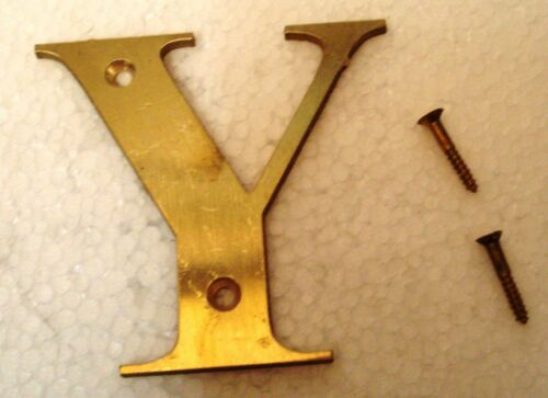 "1st ALPHABET Y Letter 3"" Brass Letters HOUSE DOOR Sign"