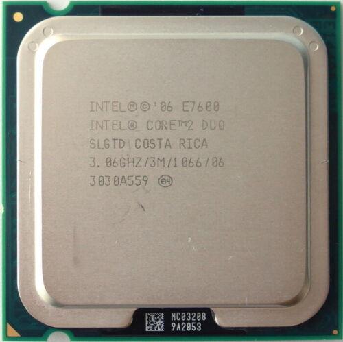 Intel Core 2 Duo E7600 3.06Ghz 3MB 1066FSB s775 DT CPU SLGTD