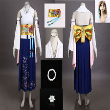 Exclusive Beautifu Final Fantasy X FF10 Yuna Summoner Cosplay Costume Customized