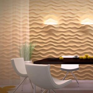 *ether* 3d Decorative Wall Panels 1 Pcs Abs Plastic Mold For Plaster Light Equipment & Tools