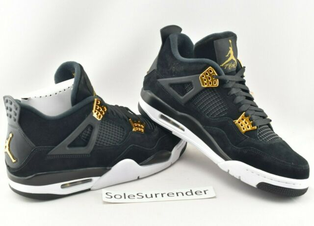 4b2877b280b6b5 Air Jordan 4 Retro Royalty -CHOOSE SIZE - 308497-032 Metallic Gold White IV