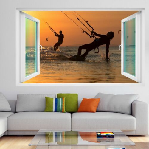 Kiteboarding Extreme Sports Wall Art Stickers Mural Decal Vinyl Poster Decor FC3