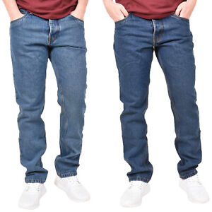 Mens-Regular-Fit-Jeans-Denim-Pants-Cotton-Straight-Leg-Trousers-Casual-Bottoms