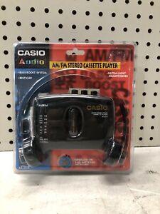 NEW VINTAGE Casio AS-201R Portable AM/FM Cassette Tape Player Walkman NIB NOS